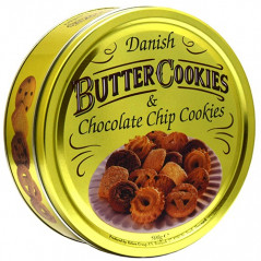 Danish Butter Cookies Chocolate Chip
